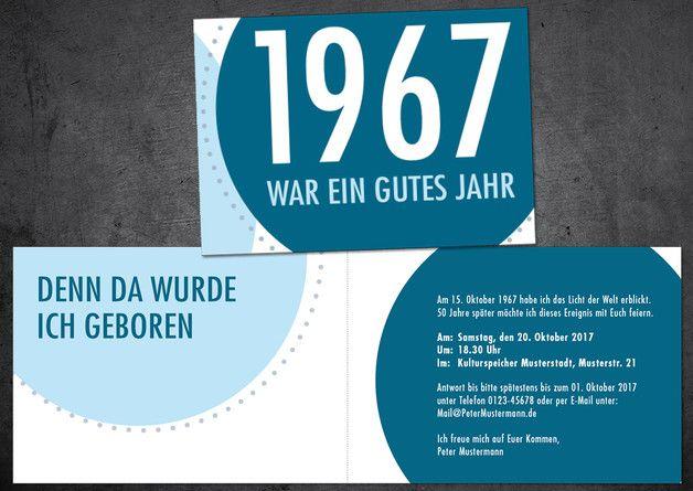 Einladung Zum 50. Geburtstag: Jahr 1967