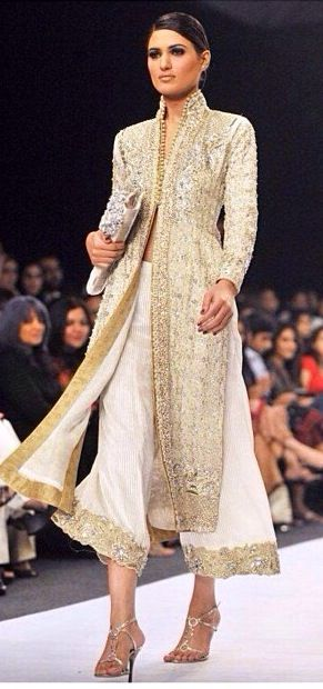 Gorgeous Neeta Lulla design. Sherwani inspired. Love !