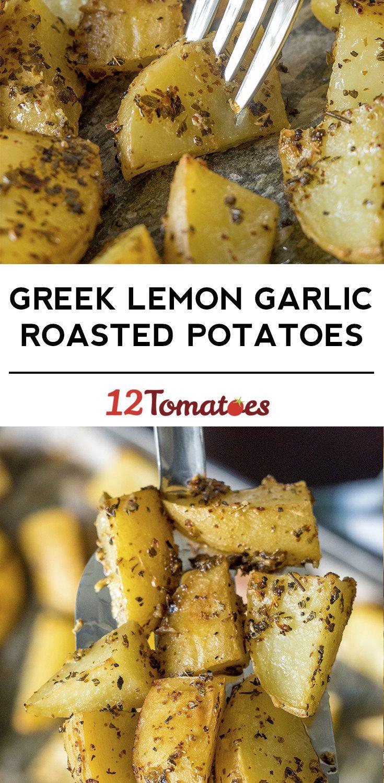 Greek Lemon Garlic Roasted Potatoes