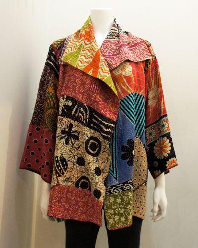 mieko mintz   MIEKO MINTZ - Kantha Bold Flare Jacket