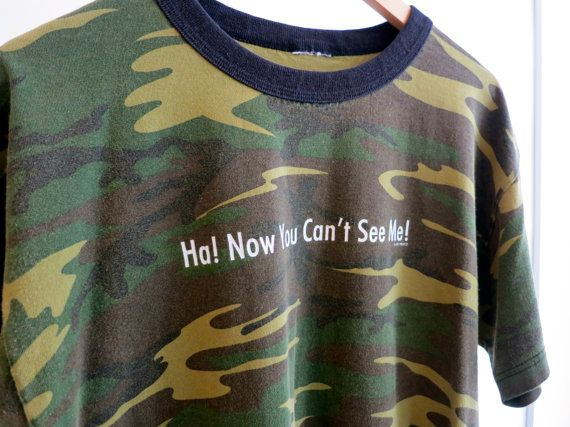 The Vintage Now You Can't See Me Camo TShirt by rerunvintage