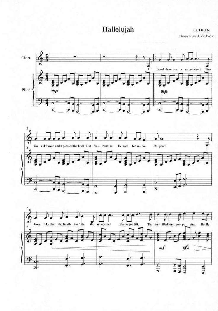 A New Hallelujah Sheet Music