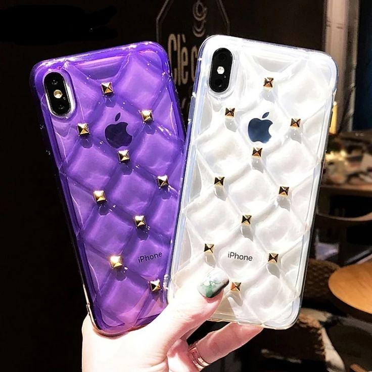 Transparent cool rivets luxury cases for iphone xr x xs