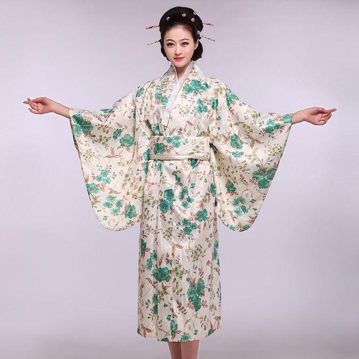 Special Offer Vintage Japanese Female Kimono Yukata Mujer Quimono Lady Evening Dress Flower One Size