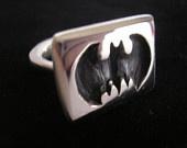 Batman Cast Silver Signet Ring
