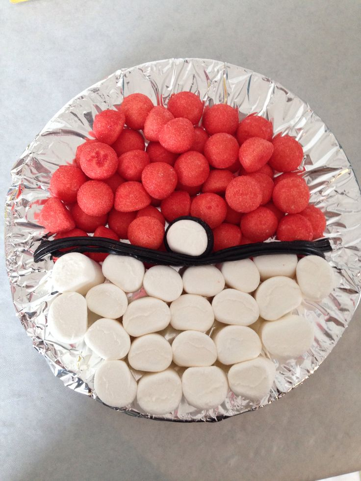 Party food: try strawberries and banana slices with blueberries