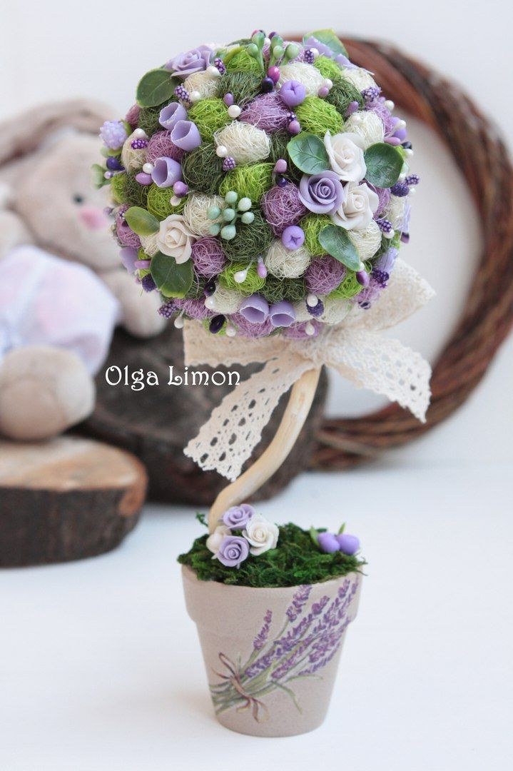 Ольга Лимон. Топиарий, елки, цветы, магниты | VK
