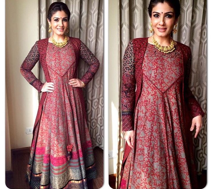Anarkali # Bollywood # Indian fashion # Raveena tondon