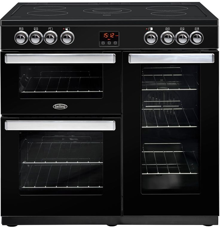 Belling Cookcentre 90E Electric Range Cooker - In a sleek black finish the Belling Cookcentre 90E Electric Range Cooker will make for absolute must have new addition in your kitchen. Within both ovens, they both provide simple to use cooking funct http://www.MightGet.com/february-2017-2/belling-cookcentre-90e-electric-range-cooker-.asp