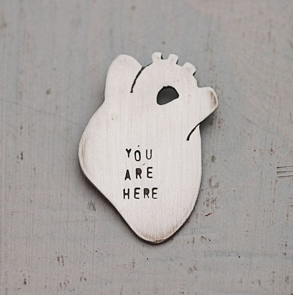 Anatomical Heart Necklace  :: You Are Here   by HouseThatCrowBuilt,