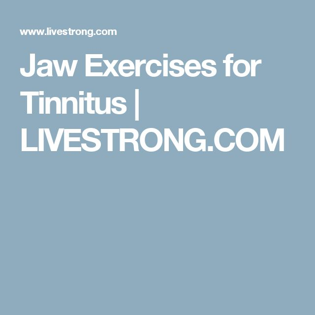 Jaw Exercises for Tinnitus | LIVESTRONG.COM #TopTinnitusCures