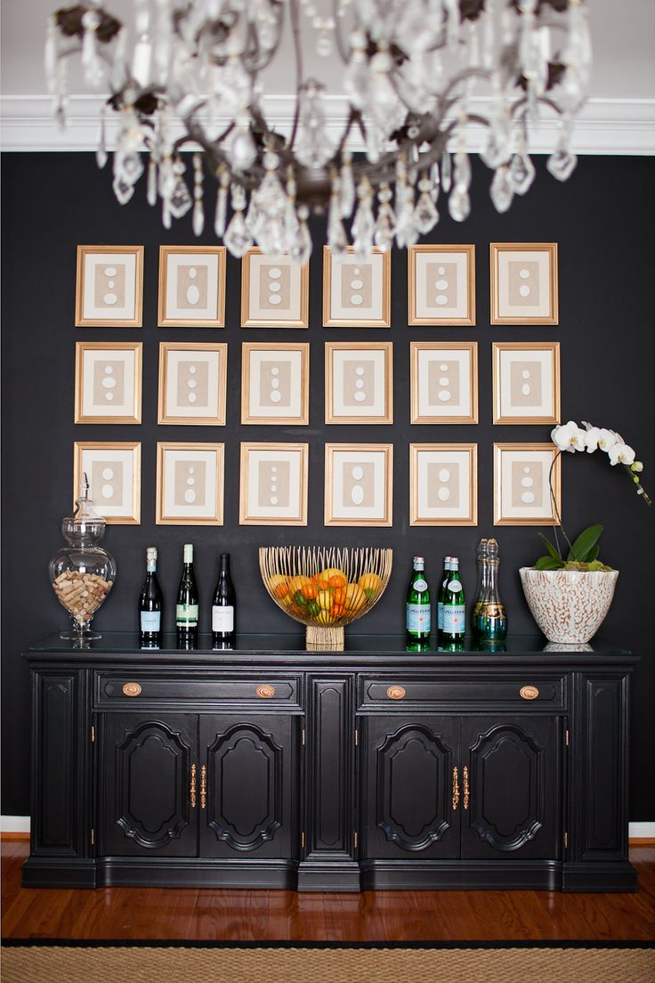 Perfect Dining Room Paint Ideas With Accent Wall Inspiration Mur De Cadres Black And Decorating