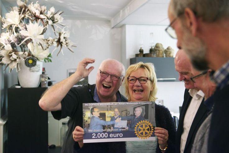 Rotary zorgt voor blije gezichten in inloophuis Medemblik