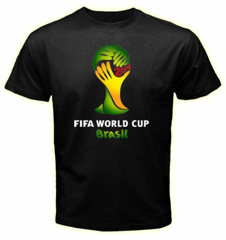 World Cup 2014 Brazil  Logo Soccer Football Fan #hanes #BasicTee