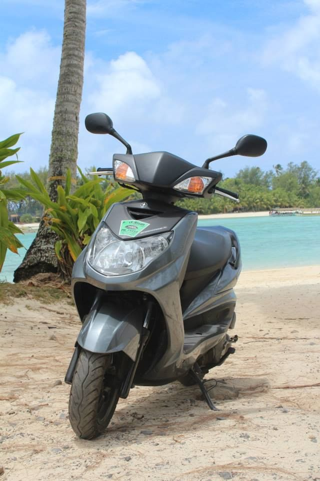 Scooter from our fleet. Polynesian Rental Cars http://www.polynesianhire.co.ck/