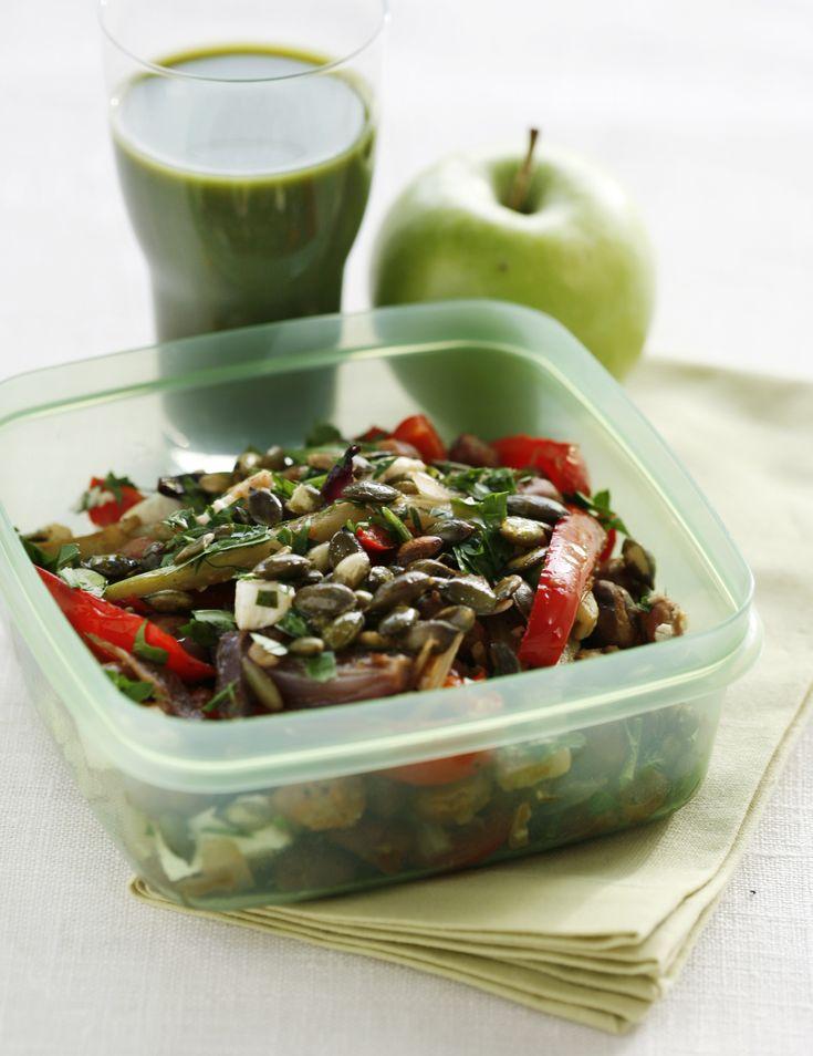 Favabönor med fänkål, paprika och fetaost - Recept - Tasteline.com