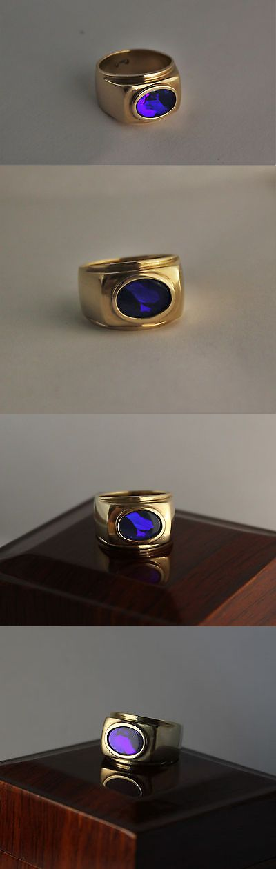 Rings 137856: 1.6 Ct.Black Australian Opal 14K Solid Yellow Gold Mens Ring Size 9 -> BUY IT NOW ONLY: $3000.0 on eBay!