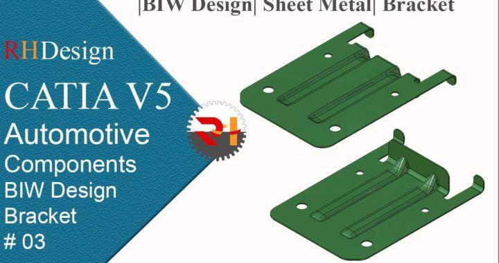 Catia V5 Tutorial For Beginners 127 Biw Design Sheet Metal Design 03 Bracket Conocimientos Eu Autocad Bracket Design