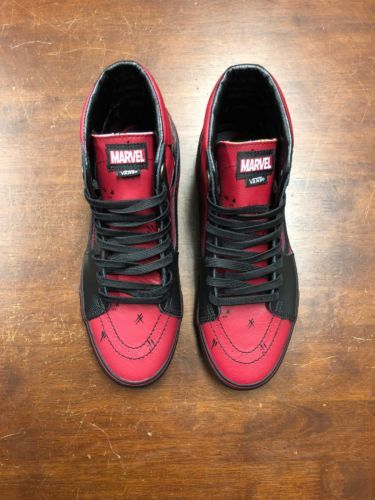 ca255d5791f Details about Vans x Marvel DEADPOOL Sk8-Hi Shoes (NEW) Sk8 Hi Top ...