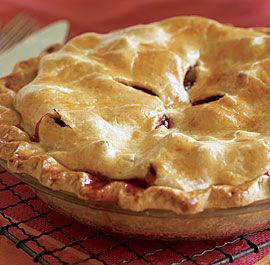 Strawberry-Rhubarb Pie This compote is a stunning combination of flavors and colors. Serve it chilled with cookies, or warm over vanilla ice cream. Via Fine Cookinig