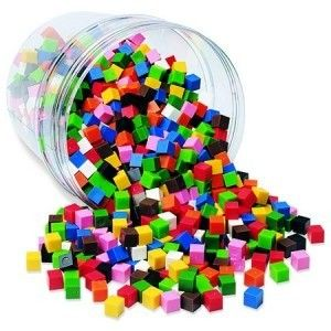 Learning Resources Cuburi multicolore (1cm)