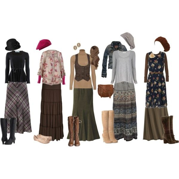 """""""Fall Skirt Outfits"""" by christianmodesty on Polyvore"""