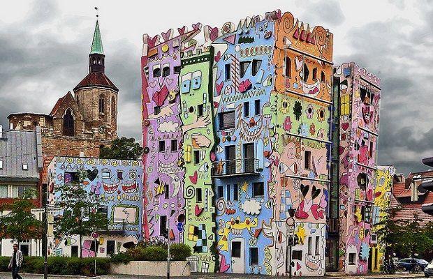 Rizzi Happy House, curieuse habitation de la ville allemande de Brunswick (Allemagne) #immobilier #insolite