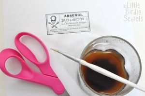Aged Halloween Potion Bottle Labels | Make and Takes