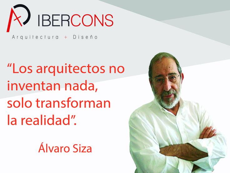 Hoy primero de #noviembre nos inspiramos con la frase de Álvaro Siza, para todos tus proyectos arquitectónicos consúltanos: www.ibercons.com.co