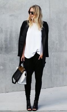 how to dress up drop crotch pants, womens fashion - Google Search