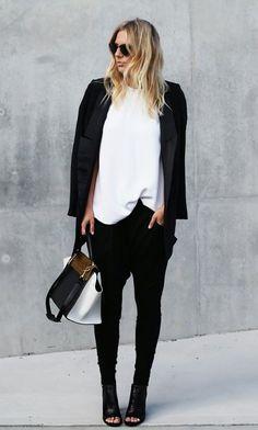 how to dress up drop crotch pants, womens fashion - Google Search