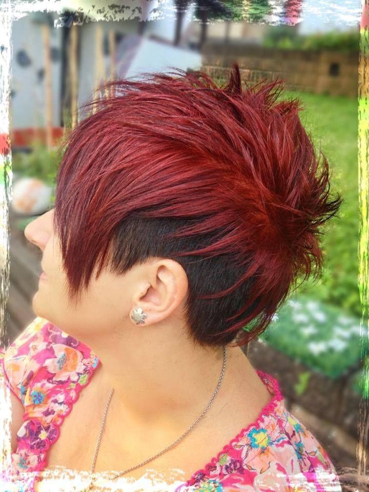 Undercut Hairstyle Haarfarben in Feuerrot & Dunkelbraun ...