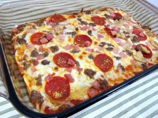 Delicious NO CARB Pizza Recipe. Get the Recipe!