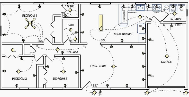 Home Electrical Wiring, Room Wiring Diagram