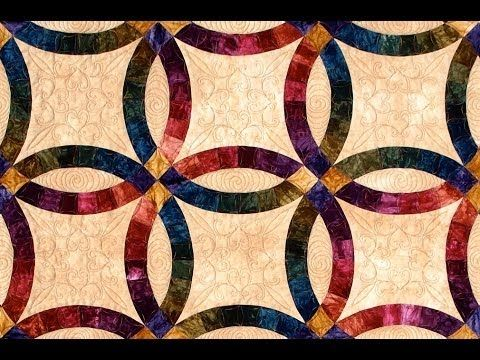 Double Wedding Ring part 1 quilt video by Shar Jorgenson - YouTube
