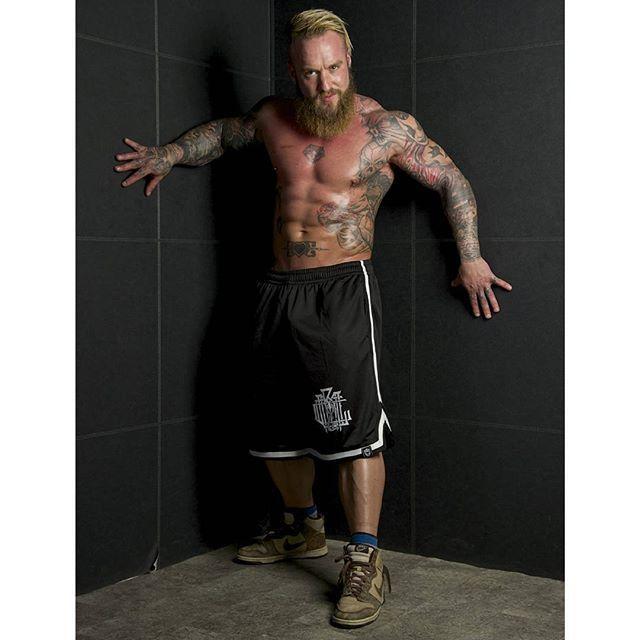 """Monogram"" Striped Mesh Shorts  Part of our Pre-Drop SALE with up to 40% OFF everything online at www.crmc-clothing.co.uk  WE SHIP WORLDWIDE Model - @loco.mike.masonPhotography by @drplad#muscle #shredded #ripped #hulk #bodybuilder #bodybuilding #wrestler #wrestling #dark #alternativeboy #clothing #fashion #locomikemason #instagood #skatewear #urbanwear #Mikemason #instafashion #fashionaddict #nba #chicagobulls #Baphomet #occult #beardedgents #beard #beardedmen"