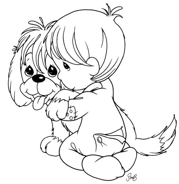 precious moments dog coloring pages - photo#5