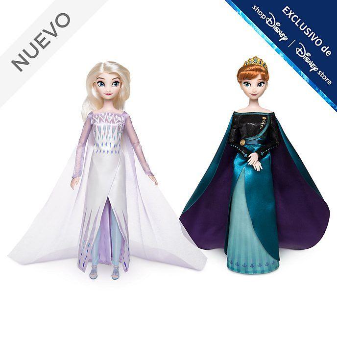 Estas Preciosas Muñecas De Anna Y Elsa Parece Que Están Listas Para Gobernar Las Adorables Hermanas Con Vestidos De Anna Y Elsa Reina Elsa Muñecas De Frozen