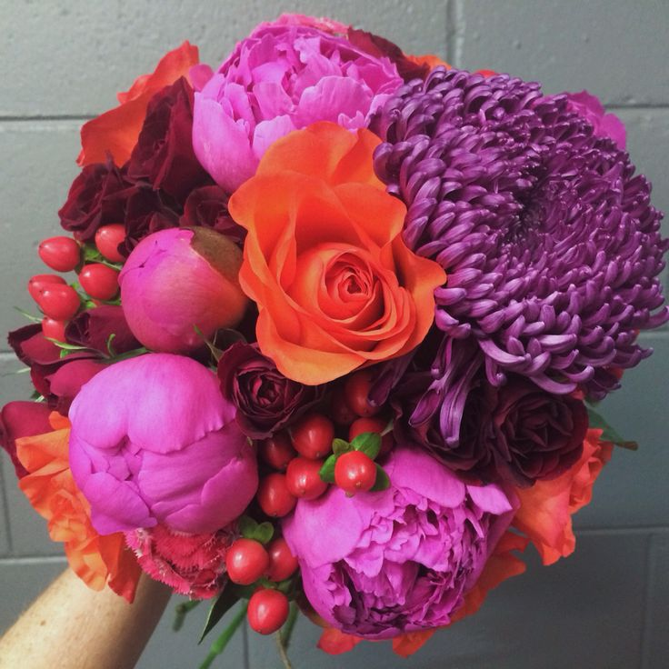 Colour pop bouquet, peony season is always a fun time to get creative