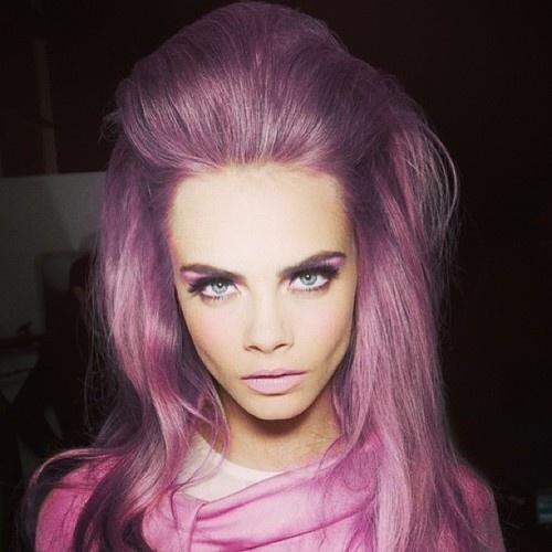 Cara Delevingne, hair styled by Schwarzkopf