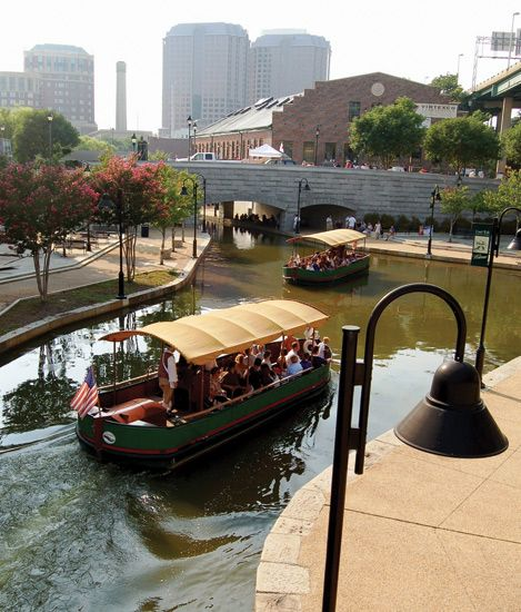 Canal cruises in Richmond (the capital of Virginia, and one of the oldest cities in the USA).