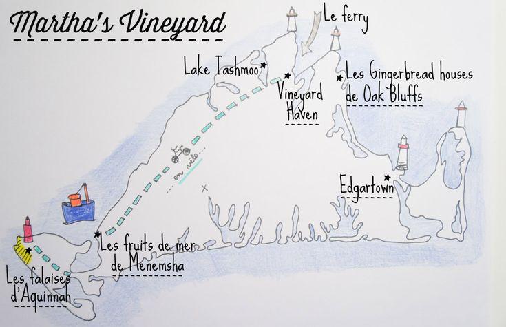 Martha's Vineyard est une très belle destination de vacances, à 45 minutes du Cape Cod, c'est un condensé de Nouvelle Angleterre !