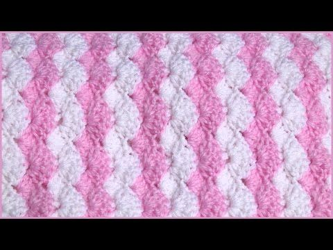 How to Crochet a Baby Blanket Using a Shell Stitch - YouTube