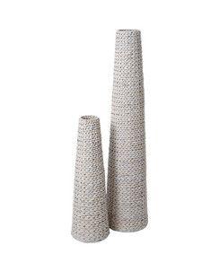 Pair of Arrow Weave Vases
