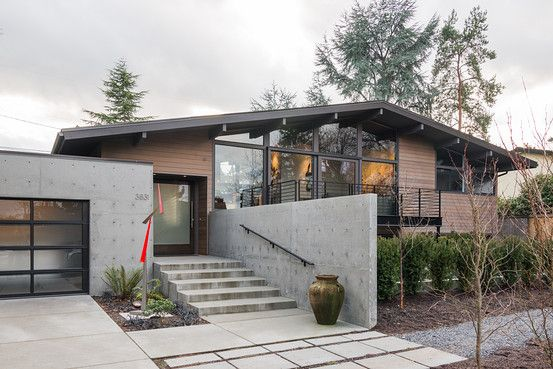 Very cool re-do of a mid century house
