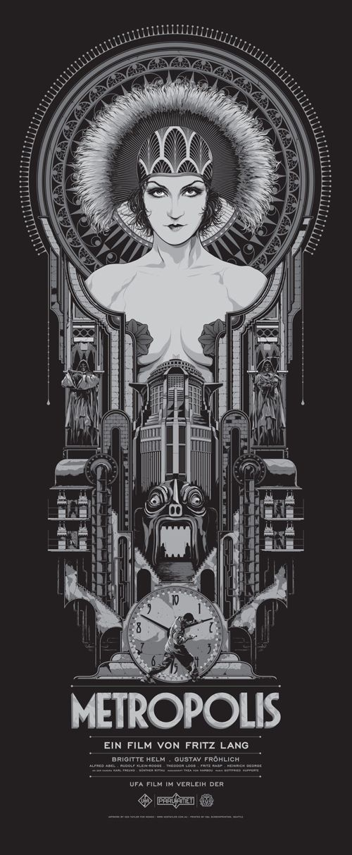 "Metropolis  Poster by Ken Taylor. 15""x36"" screen print. Hand numbered. Signed by Ken Taylor. Edition of 400. Printed by D Screenprinting."