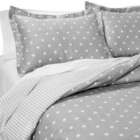 dots and stripes reversible duvet cover set home bedroom pinterest colors duvet covers. Black Bedroom Furniture Sets. Home Design Ideas