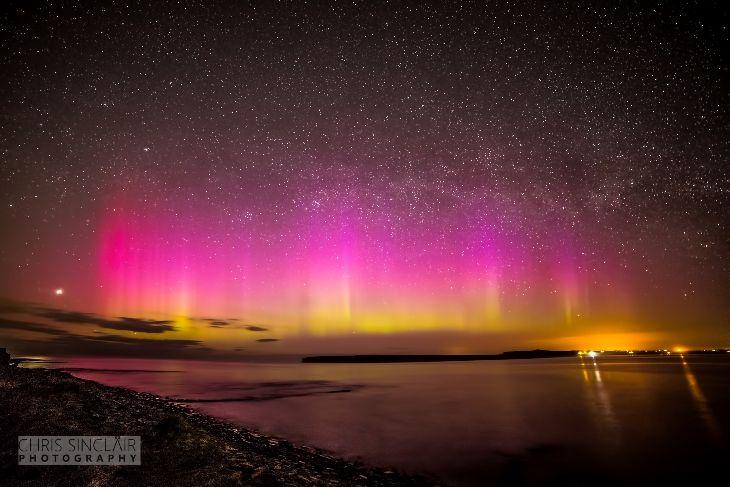 Aurora And Lyrid Meteor Showers - Castlehill, By Thurso, Northern Scotland.