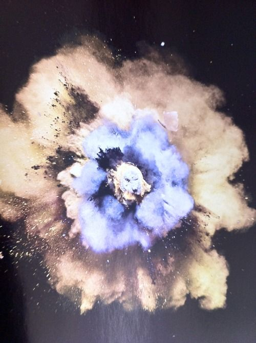 Nick Knight explosion experimental photography
