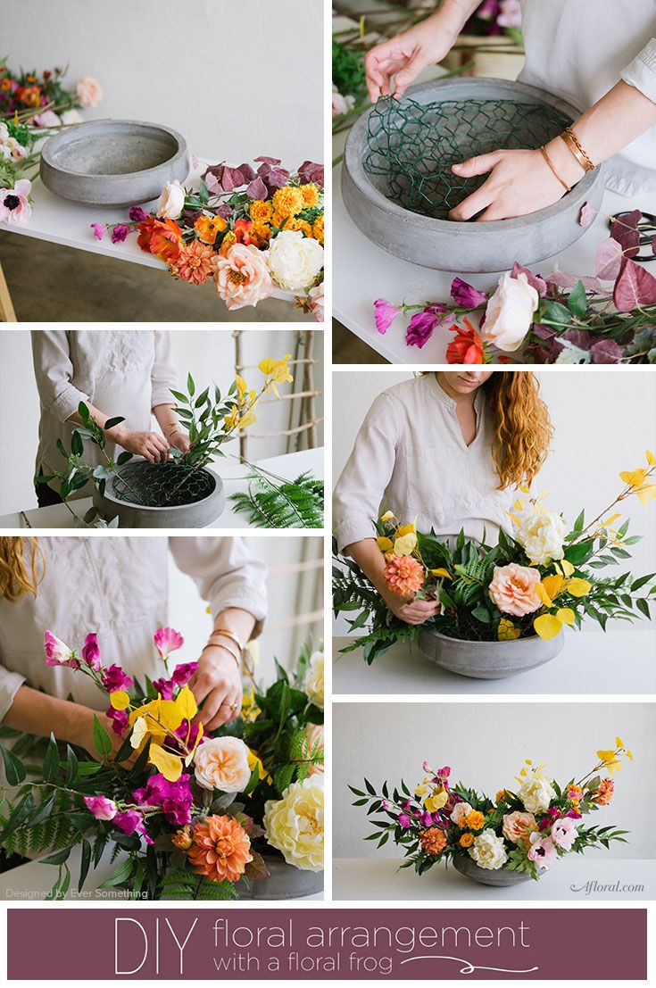 DIY Floral Arrangement with Floral Wire Netting and Floral